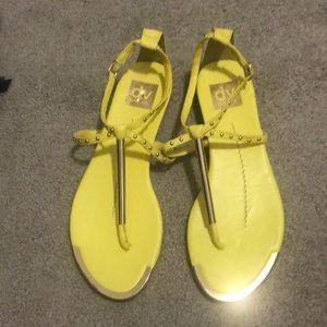 Yellow dolce vita sandals